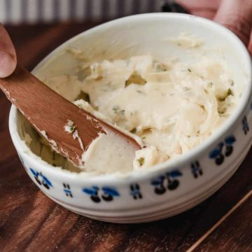Herb Butter in a bowl.