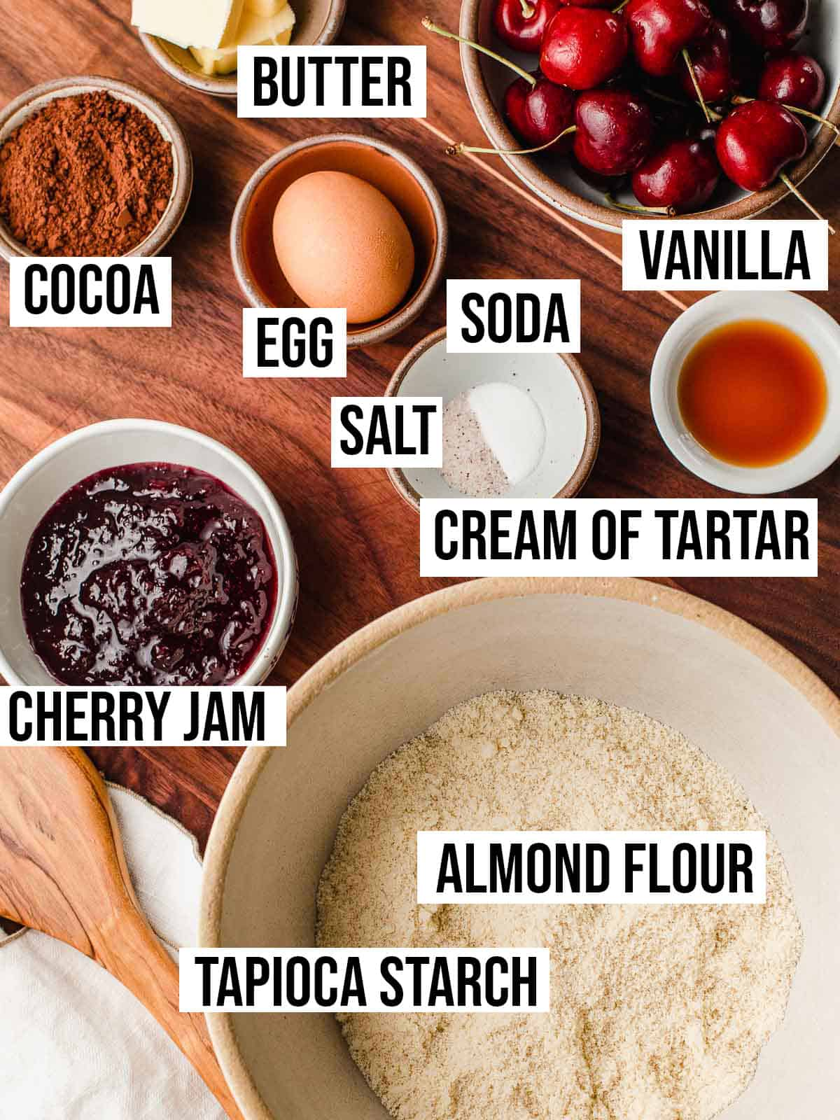 Ingredients on a table.