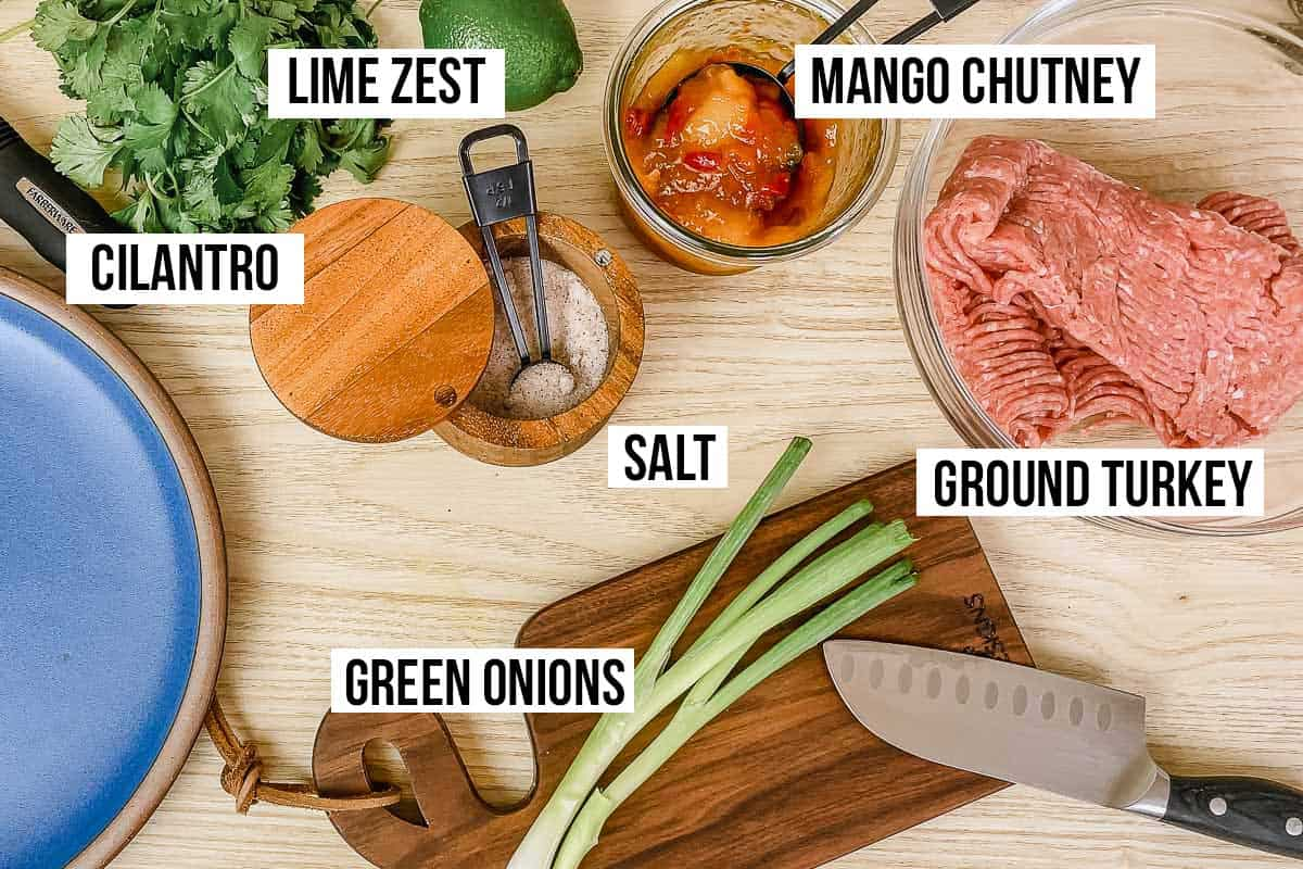 Ingredients on a counter.